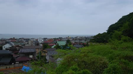 tocht : Wide angle view over the city of Kamakura in Japan