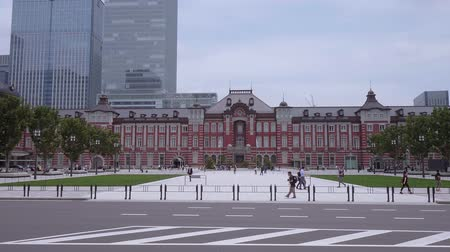 shinto : Tokyo Station - the huge central station in the city - TOKYO  JAPAN - JUNE 12, 2018 Stock Footage
