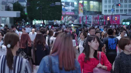 shinto : Shibuya at night - a busy place in Tokyo - TOKYO  JAPAN - JUNE 12, 2018