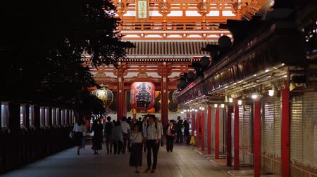 moderno : Most famous temple in Tokyo - Senso-Ji temple at night - TOKYO  JAPAN - JUNE 12, 2018
