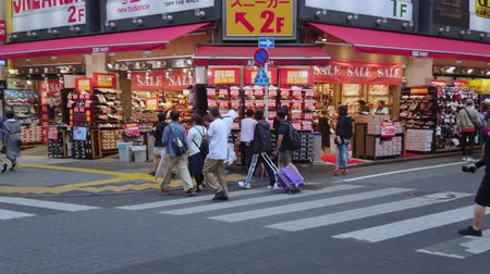 tradição : The busy shopping district of Ikebukuro in Toshima Tokyo - TOKYO  JAPAN - JUNE 18, 2018 Stock Footage