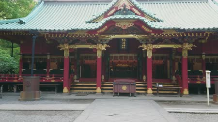 cityscapes : Famous Shinto Shrine in Tokyo - the Nezu Jinja in Bunkyo - TOKYO  JAPAN - JUNE 17, 2018