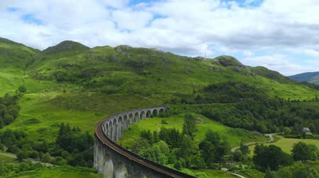 great britain : Famous Glenfinnan viaduct in the Scottish Highlands - a popular landmark