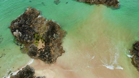 lakes of scotland : Sango Sands beach at Durness in the Scottish Highlands from above