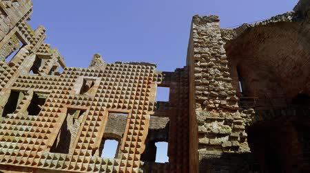 lakes of scotland : The Ruins of Crichton Castle in Scotland with its Italian style walls