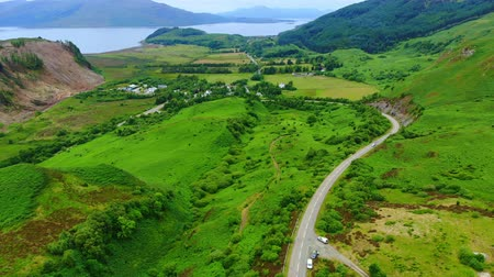 maravilhoso : Wonderful landscape and green hills around Loch Long in Scotland