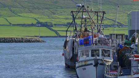 kerry : Fisher boats at the harbor of Dingle - DINGLE  IRELAND - SEPTEMBER 12, 2018