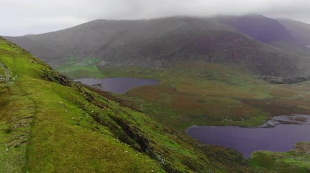 kerry : Aerial view from Connor Pass over a valley at Dingle Peninsula
