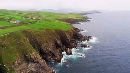 kerry : Flight along the cliffs of Dingle Peninsula and the west coast of Ireland