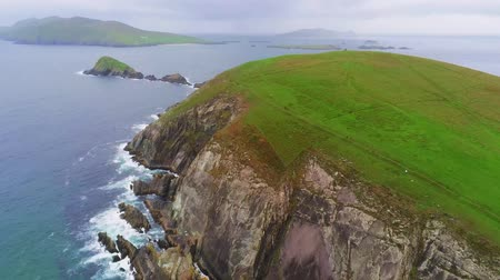 head over : Flight over Dunmore Head on Dingle Peninsula at the west coast of Ireland