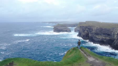 kerry : The wonderful cliffs at the west coast of Ireland Stock Footage