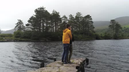 kerry : Young couple enjoys the silence at a beautiful lake