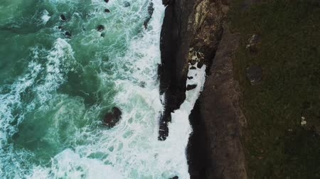 cornualha : Cornwall England from above - flight over the fascinating coastline