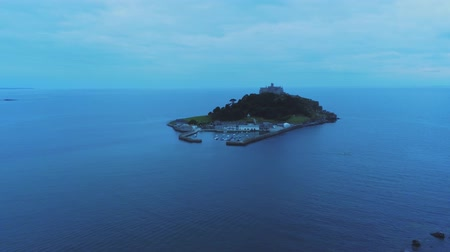 cornualha : Mount St Michael in the Evening - aerial view