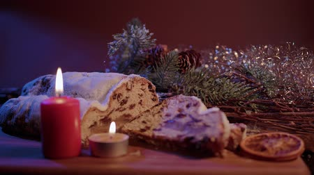 anos : Fresh from the Christmas bakery - the traditional stollen Archivo de Video