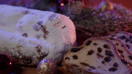 rodzynki : Baked Stollen a German specialty for Christmas