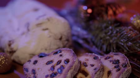 powdered : The traditional Christmas cake from Germany the famous stollen