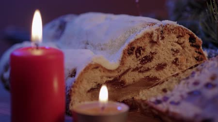 pişmiş : Close up shot of Christmas stollen