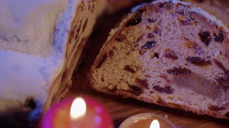 adwent : Delicious slices of Christmas stollen fresh baked