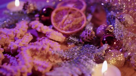 rodzynki : Beautiful Christmas plate with cookies and spritz biscuits