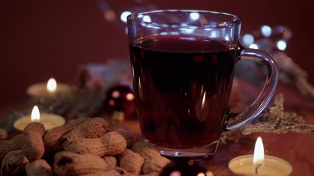 adwent : Mulled wine on a Christmas table
