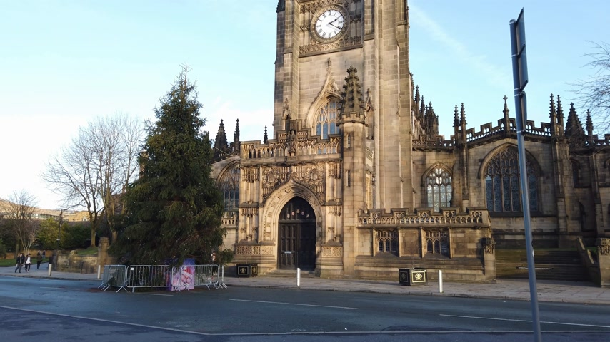 bretanha : Manchester Cathedral most important church in the city - MANCHESTER, ENGLAND - JANUARY 1, 2019