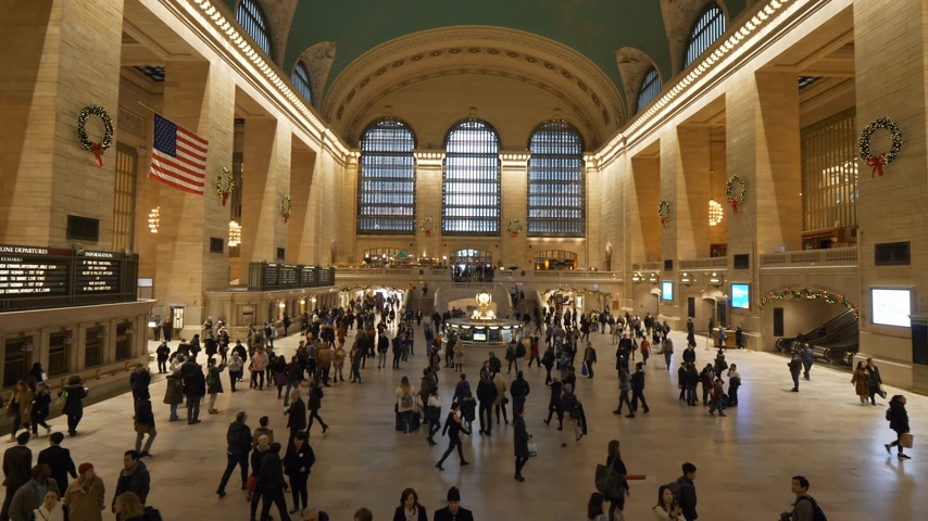 américa central : Main lobby of Grand Central Station New York Vídeos