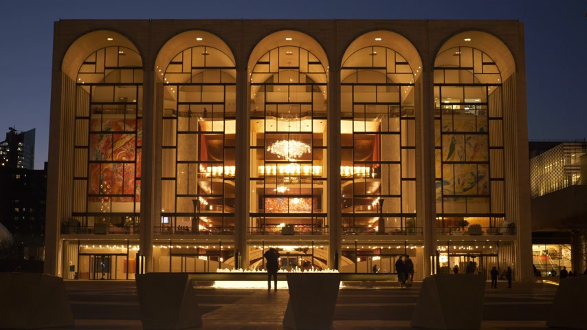 metropolitní : Beautiful building of the MET Metropolitan Opera New York