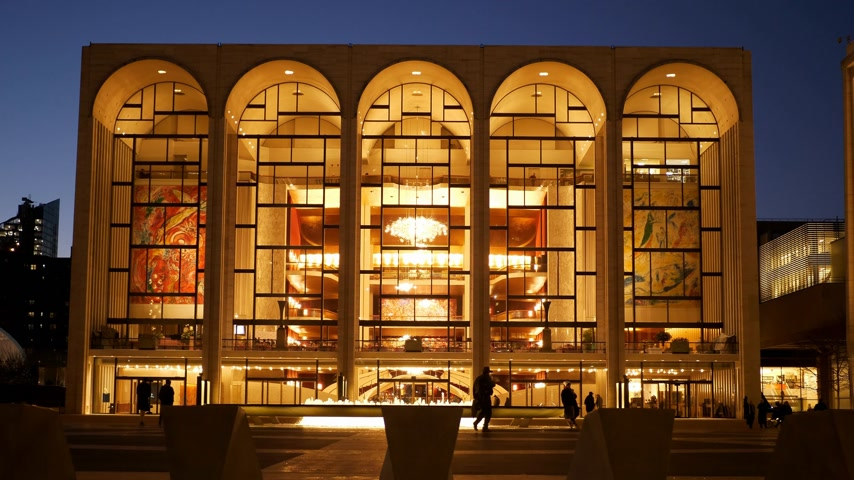 metropolitano : Metropolitan Opera called MET at Lincoln Center in Manhattan