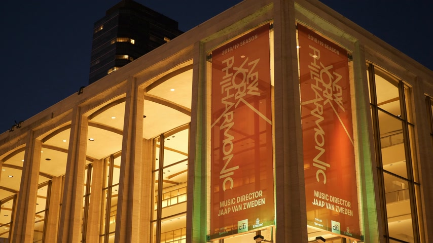 philharmonic : The New York Philharmonic at Lincoln Center Stock Footage
