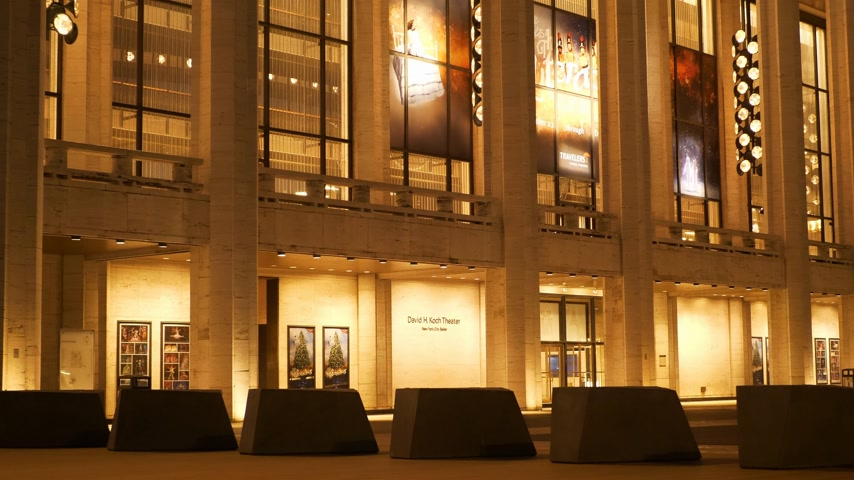 davide : David H Koch Theatre al Lincoln Center di New York Filmati Stock