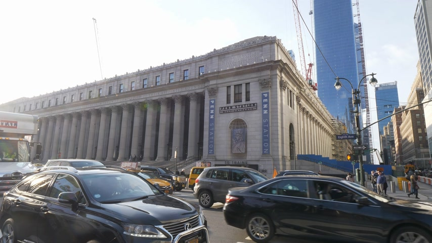 Пенсильвания : Famous Penn station in Manhattan the Pennsylvania station New York Стоковые видеозаписи