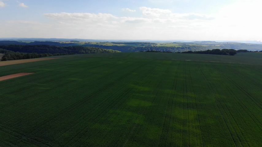 uzak : Beautiful grasslands and country landscape from above - aerial flight footage