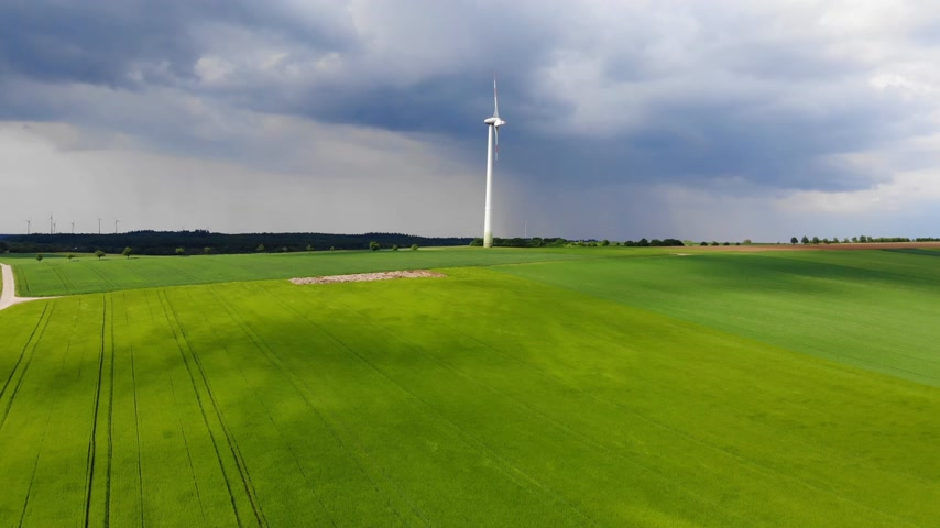 ekolojik : Wind energy plant - modern wind power station on a hill - clean energy