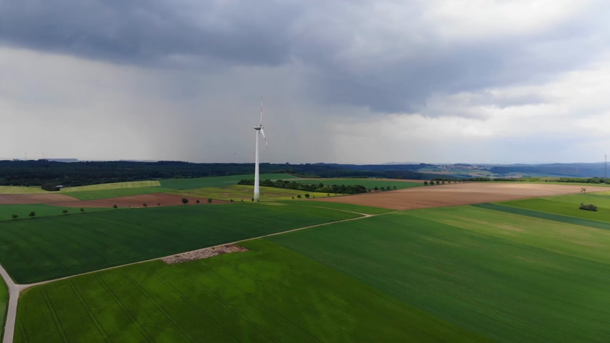 kolza tohumu : Aerial flight over fields on countryside - agriculture