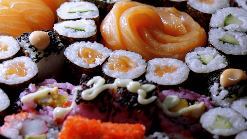 sushirestaurant : Varietey of Asian Sushi on a plate