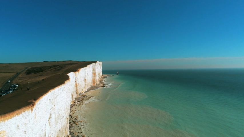 eroded : Flight along the British coast with its wonderful white cliffs