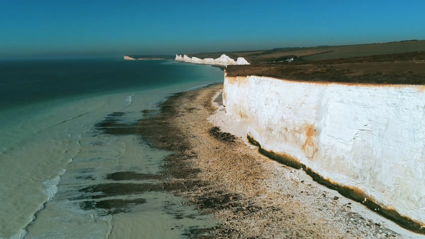 erodida : Flight along the British coast with its wonderful white cliffs