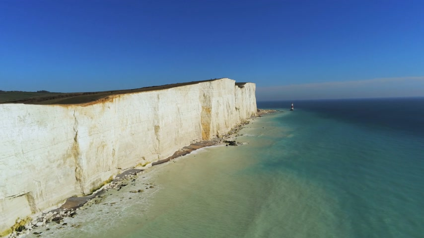 head over : Flight over the wonderful white cliffs at the South English coast