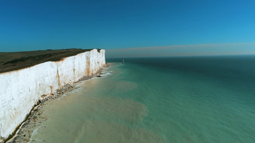 английский парк : Flight over the wonderful white cliffs at the South English coast