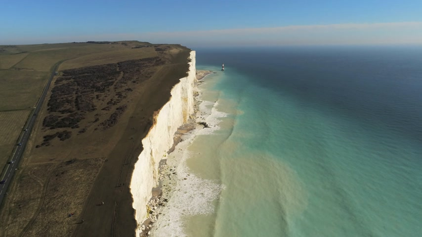 sedm : Flight over the white cliffs of the South England coast