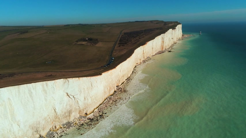 geologia : Flight along the British coast with its wonderful white cliffs