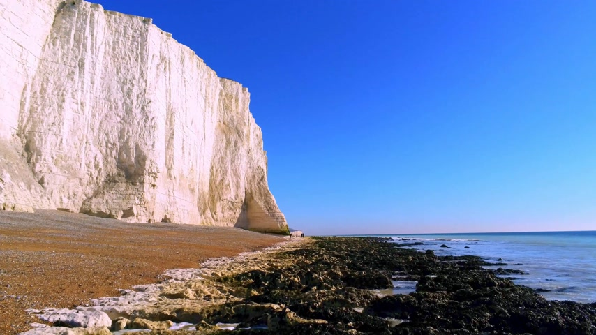 eroded : The White cliffs of Seven Sisters from above