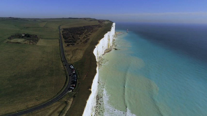 erodida : Flight over the wonderful white cliffs at the South English coast
