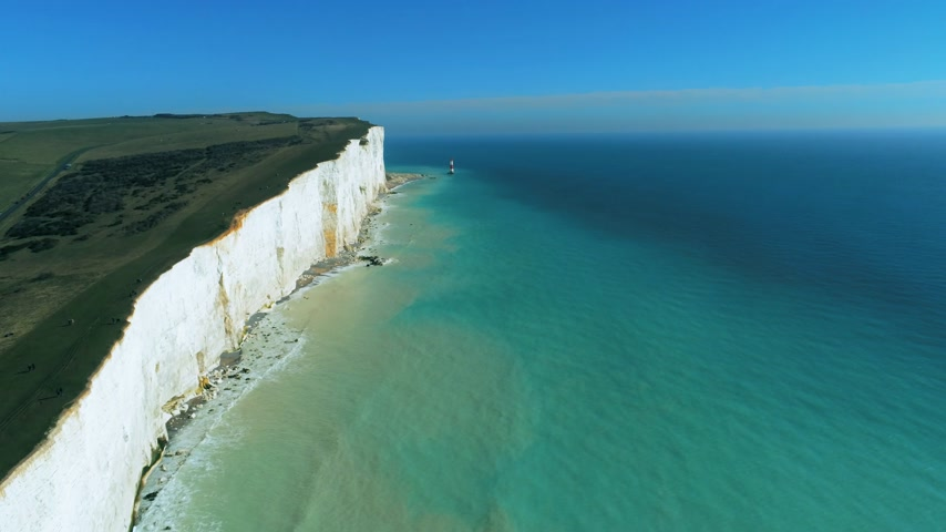 erodida : Flight over the white cliffs of the South England coast