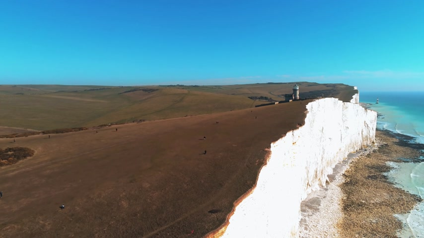 eroded : Flight over the white cliffs of the South England coast