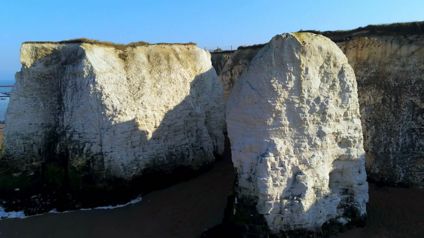 tag : White cliffs and chalk rocks at Botany Bay England Stock mozgókép