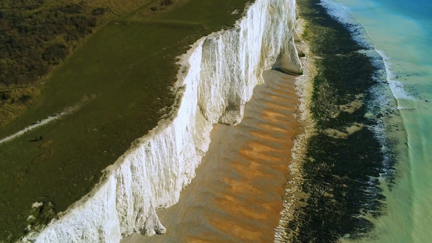 erodált : The White cliffs of Seven Sisters from above