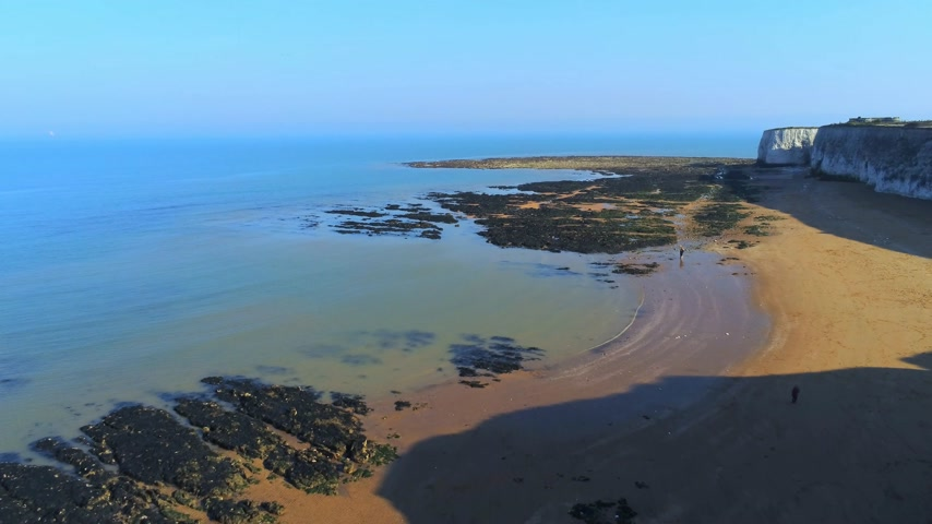 tag : Beautiful Botany Bay and chalk rocks in England from above