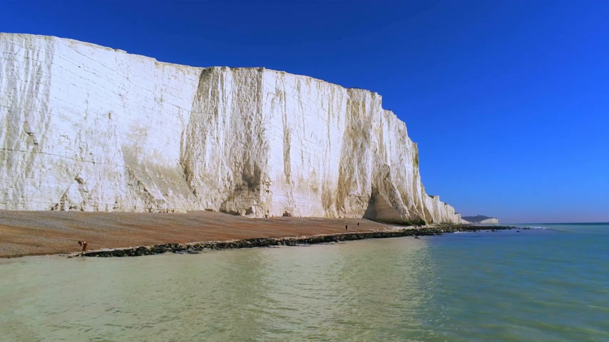 hét : The White cliffs of Seven Sisters from above